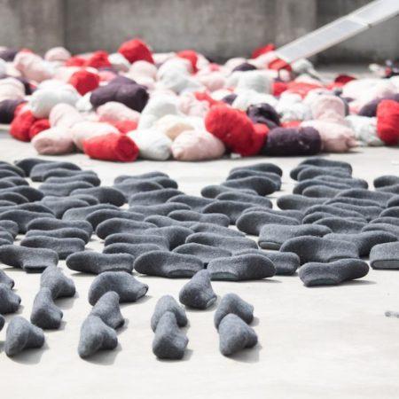Shu's hjemmesko af 100% ren uld - rød